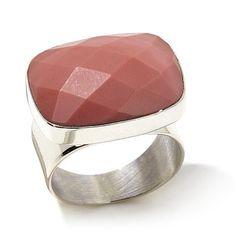 Jay King Rectangular Australian Pink Opal Ring