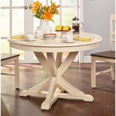 Shop for Simple Living Vintner Country Style Antique White Round Dining Table. Get free shipping at Overstock.com - Your Online Furniture Outlet Store! Get 5% in rewards with Club O!