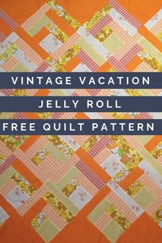 Give your home a gorgeous vintage feel with this simple strip piecing quilt pattern. Inspired by quilt patterns, this vintage inspired quilt is great for using either jelly rolls or fabric scraps. Flannel Quilts, Lap Quilts, Mini Quilts, Quilt Blocks, Jelly Roll Quilt Patterns, Quilt Patterns Free, Vintage Quilts Patterns, Jellyroll Quilts, Fabric Scraps