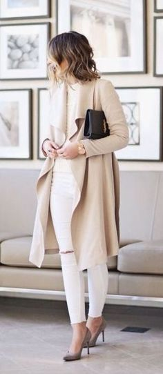 Hijab Fashion : 40 Stylish Chic Long Cardigan Outfits For Ladies Mode Outfits, Chic Outfits, Fall Outfits, Denim Outfits, Mode Chic, Mode Style, Style Blog, Cardigan Outfits, Long Cardigan