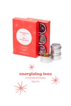Prepare for liftoff with this collection of six super-energizing teas.