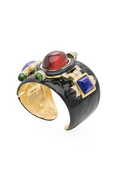 Kenneth Jay Lane Enamel Cabochon Cuff at Moda Operandi