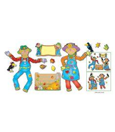 Move & Pose Mr. & Mrs. Scarecrow Bulletin Board Set