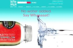Wtrmln Wtr has two ingredients: watermelon and lemon. With its refreshing taste and high amounts of potassium it is on its way to becoming the next coconut water.