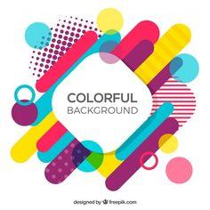 Fondo con formas geométricas multicolor Vector Gratis