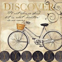 I pinned this Bicycle Canvas Art I from the Writing on the Wall event at Joss and Main!