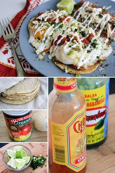 Huevos Rancheros with Chorizo Refried Beans - sub the retried beans for whole black beans and I'm sold!