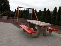 Let's play ; Chess Table, Outdoor Furniture, Outdoor Decor, Bench, Interior Design, Architecture, Modern, Gardening, Play