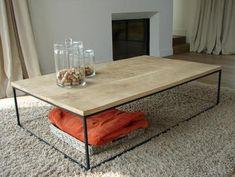 Bekijk de foto van kimmiebakker01 met als titel Salontafel met stalen frame en andere inspirerende plaatjes op Welke.nl.