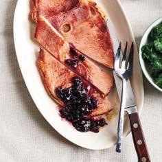 Ham with Spiced Cherry Sauce   MyRecipes.com