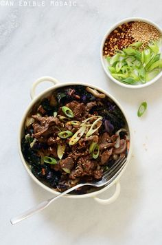 This paleo version of Korean Barbeque Beef (Bulgogi) is super flavorful and comes together fast enough for a weeknight dinner.
