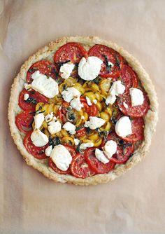 tomato Chevre Tart - Serves 4.  Brooklyn Supper