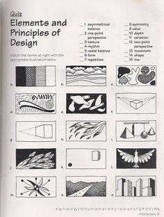No Corner Suns: The Elements and Principles of Art: Free Quiz down. Elements And Principles, Elements Of Art, Design Elements, Middle School Art, Art School, High School, School Quiz, Principals Of Design, Art Doodle