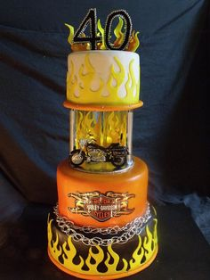 Harley Davidson Motorcycle Cake Eye candy cupcakes in Houma could make! Motorcycle Birthday Cakes, Biker Birthday, Motorcycle Cake, 40th Birthday, Happy Birthday, Cupcakes, Cupcake Cakes, Torta Harley Davidson, Beautiful Cakes