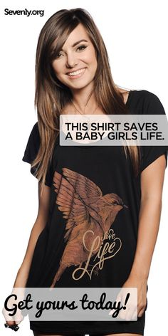 In China, girls like her are considered a burden not a blessing, resulting in the death of millions each year.    If this breaks your heart like mine... please consider grabbing a shirt that will support the fight against female genocide.    Save a life HERE ➔ www.sevenly.org/Ryan