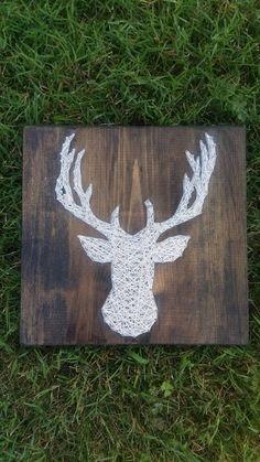 Buck head string art, deer string art, buck and doe, hunter gift, wedding gift, anniversary gift