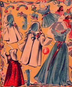 Seven and Seventeen: Big & Little Sisters Paper Dolls (4 of 8), B. Shackman Ed. (orig. 1945 Merrill)