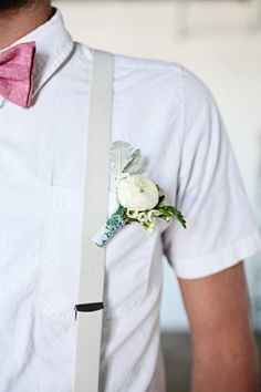 Groom in suspenders. Style Me Pretty | GALLERY & INSPIRATION