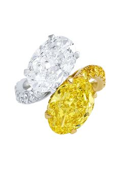 Graff Diamonds Oval Yellow  White Diamond Crossover