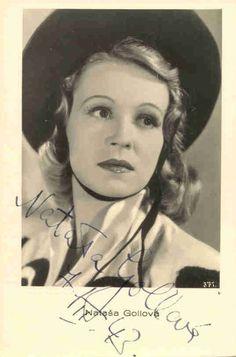 Very popular Czechoslovak film actress Natasha Gollova (1912-1988)