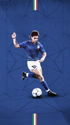 Roberto Baggio, Italy Logo, Best Football Players, Soccer World, Action Poses, Rey, World Cup, Cool Art, Legends