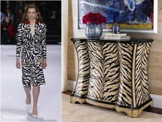 Interior Design inspired by Runway. The trendy colours and prints of the season often find their way through our home as well. Mom Group, Interior Decorating, Interior Design, Trendy Colors, Colours, Contemporary, Chic, Board, Prints