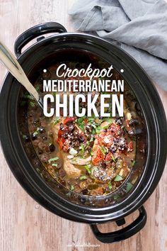 Crockpot Mediterranean Chicken