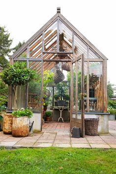 Matt would like a greenhouse, I told him that is fine but it has to be cute! :) I think this one would qualify!