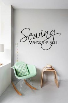 Sewing Mends The Soul wall pictures living room wall art decals quote living room decoration bedroom wallpaper