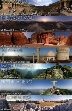 #Map Of Seven Wonders of the #World | Map Of The Day | Pinterest | Buckets. Wanderlust and Travel maps