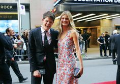 Phil Oh Captures the Best Street Style from the 2015 Tony Awards: Wes Gordon and Constance Jablonski in Wes Gordon