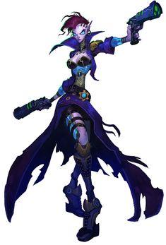"""""""Mordesh Female"""" of Wildstar MMORPG // Art Design"""