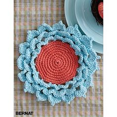 Ravelry: Spring Flower Coaster pattern by Bernat Design Studio