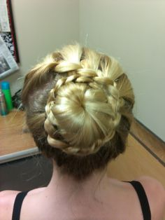 my version of a not so traditional ballet bun...