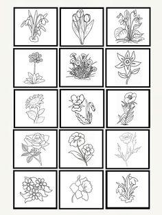 Coloring Sheets, Coloring Books, Crafts For Kids To Make, Preschool Worksheets, Bingo, Mandala, Spring, Flowers, Communication