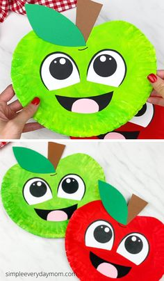 Make this cute paper plate apple craft for back to school this fall. Download our free printable template and make with preschool, prek and kindergarten children. Its an easy kids craft! #simpleeverydaymom Autumn Activities For Kids, Fun Activities To Do, Easy Crafts For Kids, Paper Plate Crafts, Paper Plates, Apple Theme, Food Crafts, Creative Kids, Spring