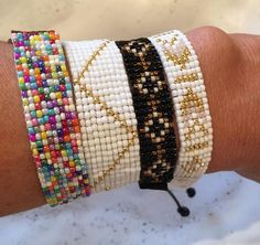 Handmade loom bracelets !! https://www.etsy.com/shop/BrunetteBeads?ref=search_shop_redirect