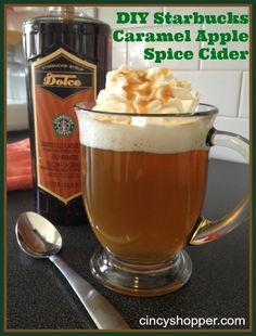 DIY Starbucks Caramel Apple Spice Cider