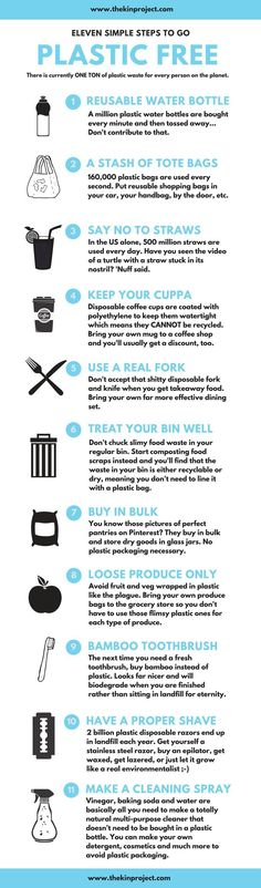 Eleven simple steps to go plastic free! Reduce waste, zero waste, less plastic, stop single use plastic, no more plastic - it's just got to stop! Take these small steps as soon as possible to drastically reduce the amount of plastic you use. Reuse Recycle, Recycling, No Waste, Reduce Waste, Plastic Pollution, Free Tips, Green Life, Sustainable Living, Sustainability