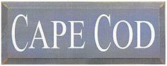 Cape Cod Wood Sign