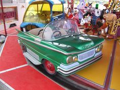 Check out these ultracute vintage Belgian merry-go-round cars - you can still buy them online! More details on Interiorator.com, tranmitting tomorrow's trends today. http://www.interiorator.com/L-Autopede-merry-go-round-cars