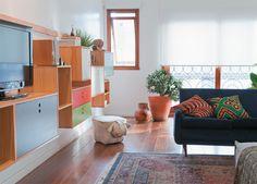 Um apartamento reformado que mistura estilos, materiais e texturas - Casa.com.br
