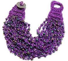 4 Free Crochet Jewelry Patterns: Wire & Bead Crochet