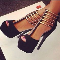 Shoespie Sexy Metal Strappy Platform Sandals