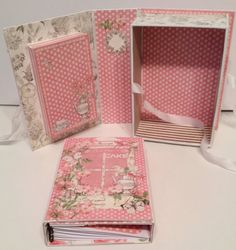 Botanical Tea shadow book box with a recipe album inside - bjl
