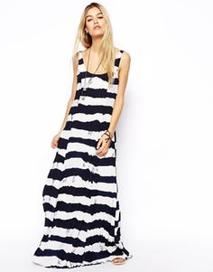 Image 1 of ASOS Tie Dye Stripe Maxi Dress