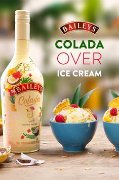 If you like Pina Coladas and feeling like you're on a summer vacation then grab a bowl. NEW Limited Edition Baileys Colada is the perfect simple treat served over ice cream. Dessert Drinks, Fun Drinks, Mixed Drinks, Alcoholic Drinks, Dessert Shots, Liquor Drinks, Beverages, Pina Colada, Baileys Colada