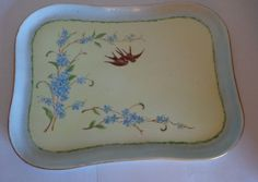Beautiful Limoges dresser tor vanity tray with adorable little birds!
