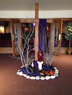 Church decoration for Lent