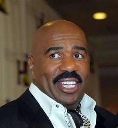 """Bless you Steve Harvey for standing up for God! Emmy Award-winning TV host and best-selling author Steve Harvey advises women not to date atheists because you don't know where the man's """"moral barometer"""" is, and says that as far as someone not beli Black Actors, Black Celebrities, Steve Harvey Family, Queens Of Comedy, 90s Tv Shows, Act Like A Lady, You Make Me Laugh, Family Feud, Stand Up Comedians"""